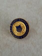 Vintage WII U.S. US Coast Guard Honorable Discharge Lapel Pin With Screw Back