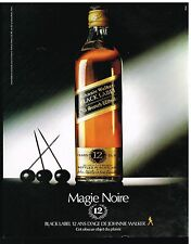 Publicité Advertising 1983 Scotch Whisky Black label
