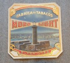 Scarce old Moro Light cigar box end label