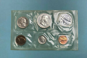 1961 US Silver Proof Coin Set In Mint Envelope ~ Five United States Coins