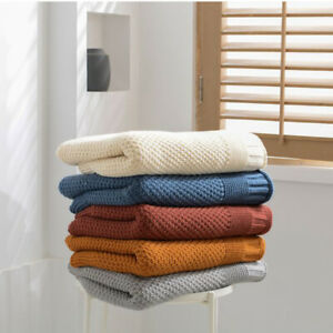 Soft Knitted Blankets Warm Nap Casual Blanket Household Sofa Bed Cover Large