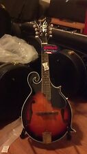 MANDOLIN F SCROLL TOBACCO BURST GOLD HARDWARE MOTHER OF PEARL W/WOOD CASE-NEW!