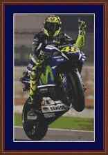 Valentino Rossi Yamaha MotoGP Motorbike Cross Stitch Kit