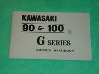 Kawasaki 90 100 G series riders handbook  owners manual G3SS 1972