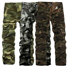 Combat Men's Cotton Cargo ARMY Pants Military Camouflage Camo Trousers NEW.US
