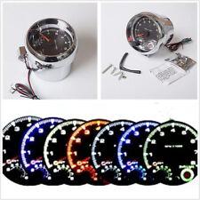 DC12V Adjustable 0-8000 RPM 3.75''/95mm Car Tachometer Shift-Light 7 LED Colors