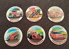 Coca cola racing 1990's set 6/6 (tazos pogs milk caps dizks glo zone pickers)