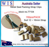 150/PK METAL CLIPS SEALS FOR PLASTIC BANDING STRAPPING TOOLS,12-16mm-77104