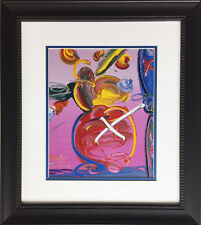 "Peter Max ""Abstract Series Vase with Flowers "" Newly CUSTOM FRAMED Print Art POP"