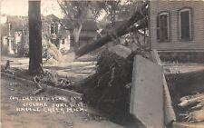 D12/ Battle Creek Michigan Mi RPPC Postcard c1917 Chery St Cyclone Disaster