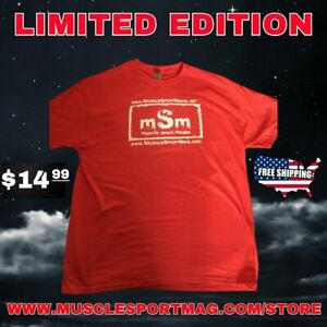 Red nWo Muscle Sport Magazine T-Shirt NEW XL L Bodybuilding IFBB WCW WWE Muscle