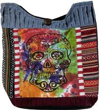 Boho Hippy Sling Bag Hippie Beach Handbag Shoulder Festival  Skull Print Gheri