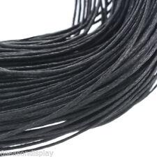 80m Wholesale Black Waxed Cotton Necklace Cord 1mm