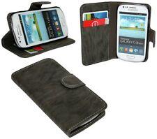 Zubehör für Samsung Galaxy S3 Mini i8190 Book-Style Tasche + Folie // ANTHRAZIT