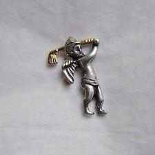 Golf Angel pin, two tone, made in USA
