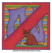 "by KERRIGAN phish alPHabet MAGNETS 2/""x2/"" letter N for no dogs allowed"