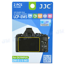 JJC 2PCS LCD Screen Guard Protector  Film For Olympus OM-D E-M5 E-PL7 E-M1,E-M10