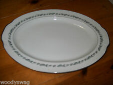Style House Regal Fine China Oval Serving Platter Vintage Mid-Century 16 3/8 in
