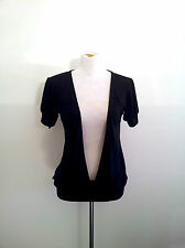 Trans-Seasonal Piece! Body size M long black v-neck knit in excellent condition