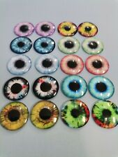 NEW 10 PAIRS BLYTHE DOLL GLASS  CABOCHON EYES CHIPS 14 MM