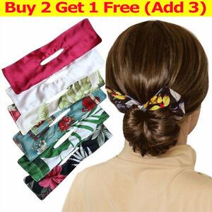 Magic Hair Bun Bow Maker Lazy Curling Iron Printing Band Clip Styling DIY Womens