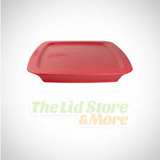 "Pyrex Easy Grab Plastic Dark Red Lid, Replacement Cover For 2 Qt 8x8"" C-222-PC"