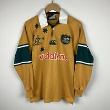 Vtg 2000 Australian Wallabies Rugby Union CCC Vodafone Jersey Size M Great Condt
