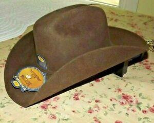 "New Bullhide Appaloosa 2X Wool Western Hat Chocolate size 7 1/8"" Brim 4"""