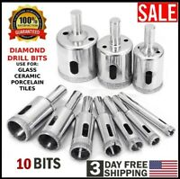 Diamond Drill Bits for Glass Ceramic Tile Porcelain Hole Maker Saw Cutting Set