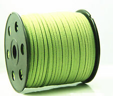 green 10yd 3mm Suede Leather String Jewelry Making Thread Cords