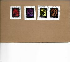 NEW 2019 SPOOKY SILHOUETTES SET OF FOUR POSTALLY USED STAMPS ON PAPER
