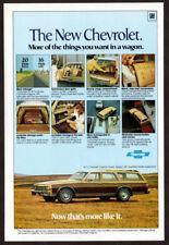 1977 CHEVROLET Caprice Classic Wagon Estate Vintage Original Print AD Brown car