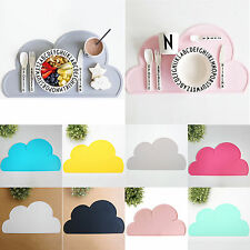 Kids Dining Table Pads Silicone Heat Resistant Cloud Shaped Food Mats Placemats