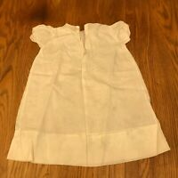 Vintage Baby Child Christening Gown Dress White Cotton