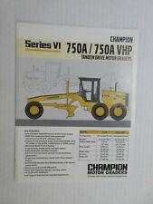 Champion 750A/750A Vhp Series Vi Motor Grader Color Literature