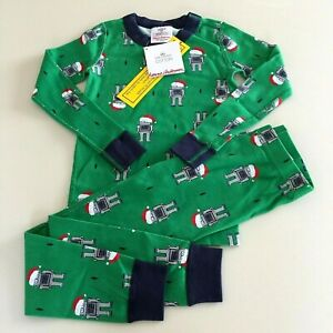 """HANNA ANDERSSON Awesome Boy's """"ROBOT"""" Pajama Set, 3-4 years 100 cm. So Comfy!"""