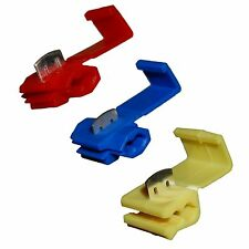 15 (5x RED 5x BLUE 5x YELLOW) Quick Splice Self Stripping Connectors Scotch Lock