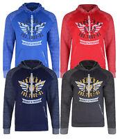 Firetrap Men's Hooded Sweatshirt Talfourd Fleece Hoodie Red Grey Blue Navy Top
