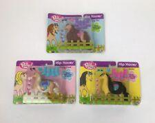 New Polly Pocket Hip Horses Lot Honey Coat, Sassy Socks, Curly 'Do