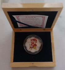 Shanghai Mint:2007 China silver lunar Pig Plum-blossom-shape China coin,RARE!