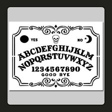 9 X 12 Decorative Ouija Spirit Board STENCIL Skull Supernatural Ghost Halloween