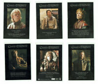 Game of Thrones Season 1 to 6 Rittenhouse Quotable Chase Card Selection Q1 - Q59