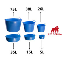 BLUE - Gorilla Tub Trug Flexible Storage Carrying Bucket Feeding Water Garden