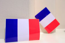 """#4796 France Flag Air Travel Luggage Label Waterproof 6x9cm 3.5"""" Decal Sticker"""