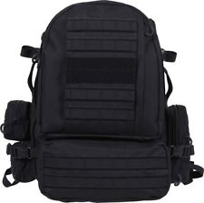 Black MOLLE Large Military Deployment Pack with Belt
