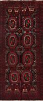 Geometric Balouch Tribal Afghan Runner Rug Hand-knotted Wool Hallway 3x7 Carpet