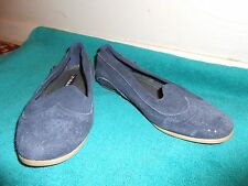 Oliberte navy suede Blanca leather flats display/sample 7M New no box save $!