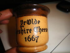 Royal Doulton Ye Olde Cheshire Cheese 1667 Advertising salt bowl toothpick holde