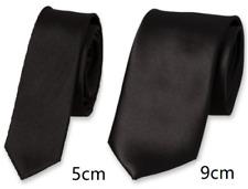 Uni Noir Satiné Cravate Vêtement de Travail Sécurité Portier Videur Funérailles