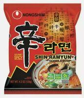 Korean Instant Noodle NongShim Shin Ramyun Gourmet Spicy Noodle Soup Ramen x 4